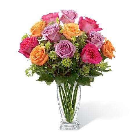 Long stem rainbow roses bouquet
