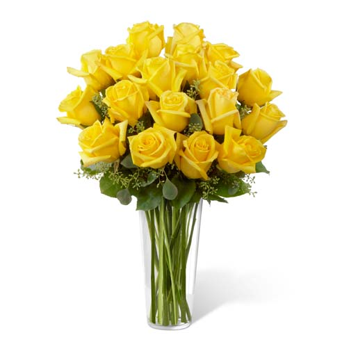 Long stem yellow roses bouquet