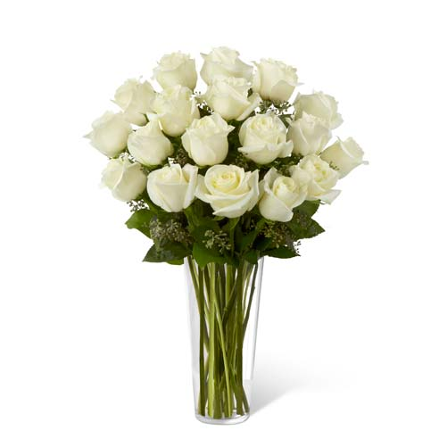 Long stem white roses delivery for cute valentines day gift delivery at send flowers