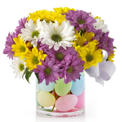 Send Easter egg basket delivery and easter gift basket delivery with eggs