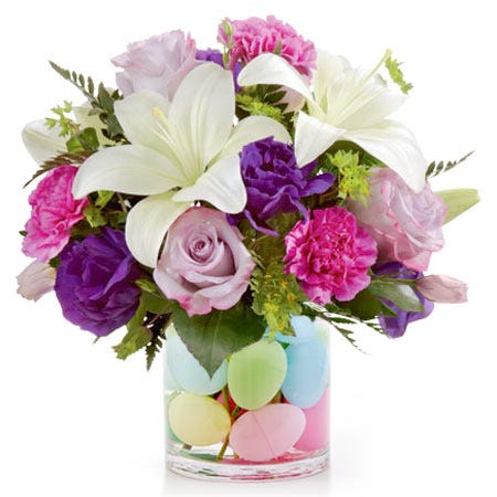 cheap easter egg bouquet and same day delivery easter egg flower arrangement