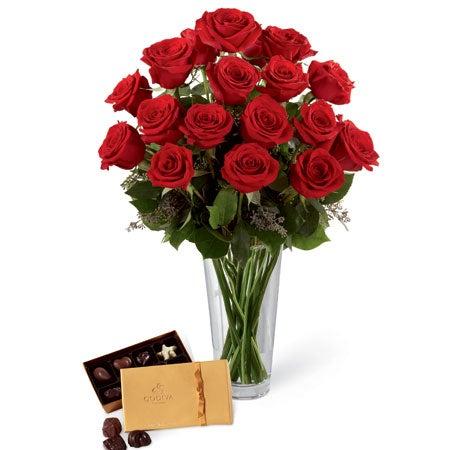 Red Roses Godiva Chocolates Box At Send Flowers