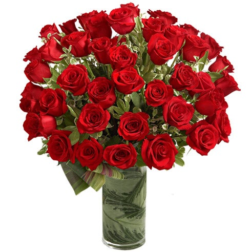 48 long stem red roses for florist delivery and same day rose delivery