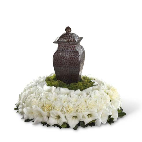 Flowers funeral home with sympathy flowers and funeral flower arrangement