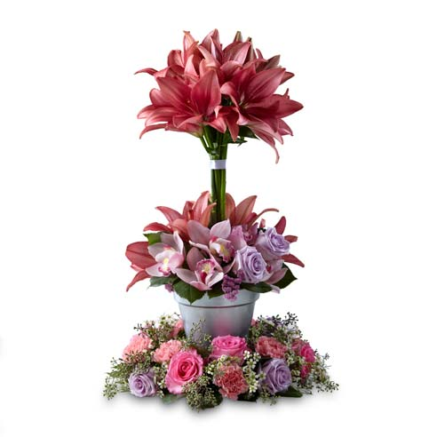 Funeral floral arrangement and sympathy flowers, same day flowers