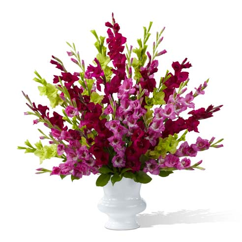 Purple funeral flowers from send flowers com with purple gladiolus