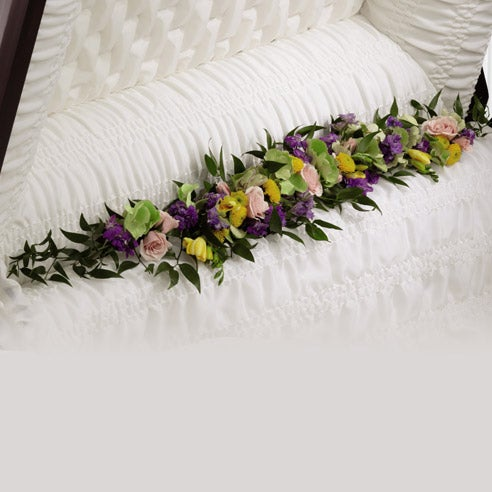 Trail of Blooms Casket Adornment