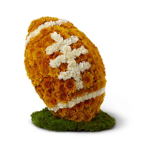 Football made out of flowers for flower delivery online