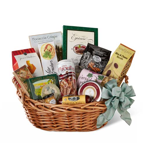 sausage and cheese christmas gift basket delivery from sendflowers
