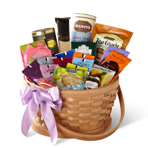 Fathers day gift basket and gift basket delivery of teas and cookies