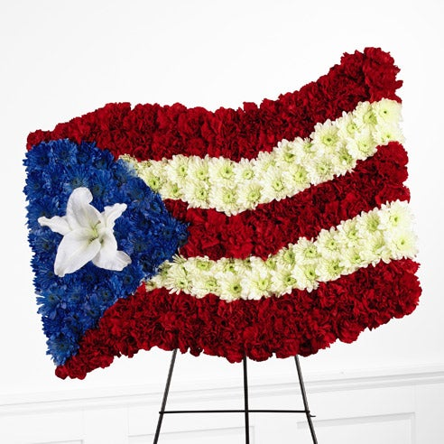 American flag flower arrangement delivery