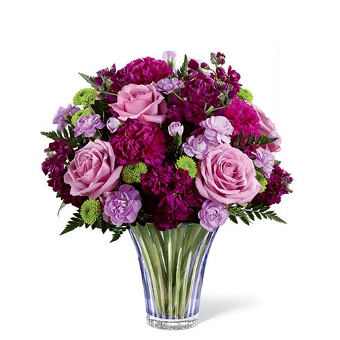 Purple rose bouquet and lavender rose bouquet for same day rose delivery by sendflowers