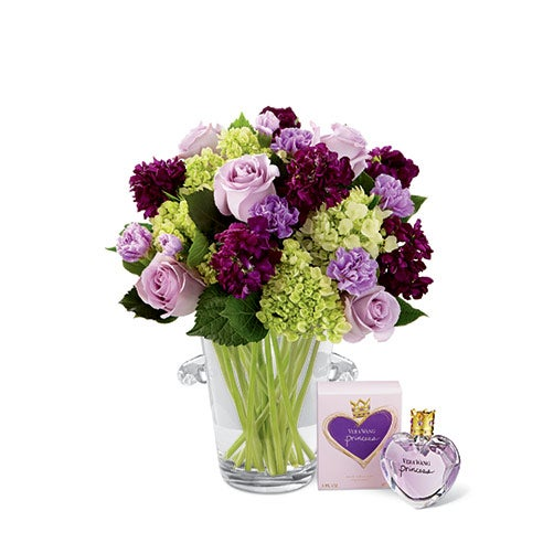 the ftd eloquent bouquet by vera wang with fragrance at send flowers. Black Bedroom Furniture Sets. Home Design Ideas