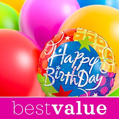 Best value balloon delivery online with happy birthday balloons from sendflowers