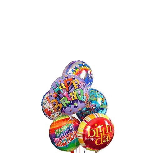 Birthday balloon delivery and balloons for children in balloon bouquets