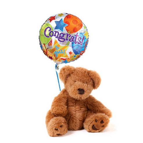 Congratulations teddy bear delivery, congratulations same day balloon delivery
