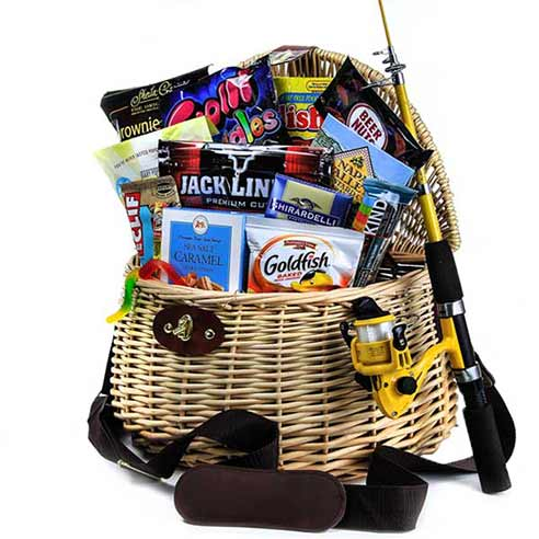 cheap fishermans gift basket, a fishing gifts basket delivery from send flowers