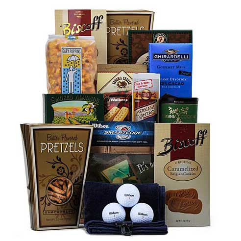 golf gift basket delivery, golfer gift basket and golfing gift basket delivery