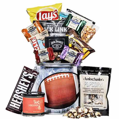 `football themed gift basket, football gifts basket delivery from send flowers