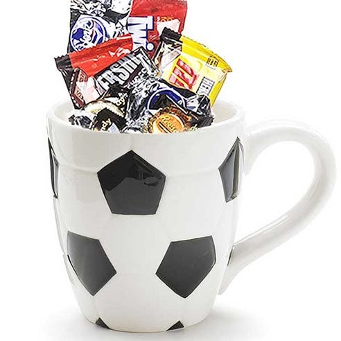 Happy Sweetest Day for him soccer gift basket delivery