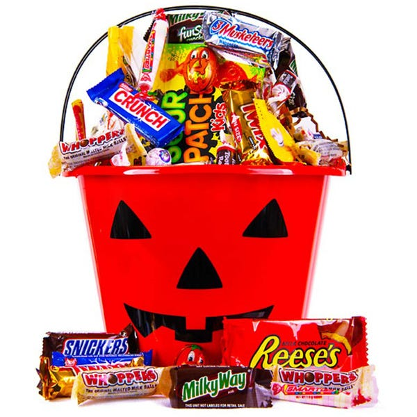 Halloween pumpkin candy bucket delivery next day from send flowers