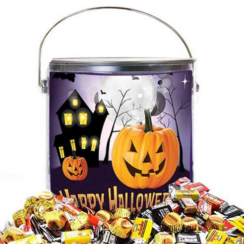Happy Halloween candy bucket gift basket