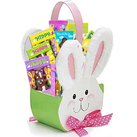 Easter bunny candy basket at send flowers easter gift basket delivery and cheap cute easter bunny gift delivery negle Images