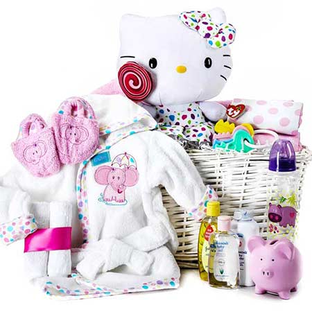 hello kitty gift basket for babies, next day hello kitty new baby gifts basket