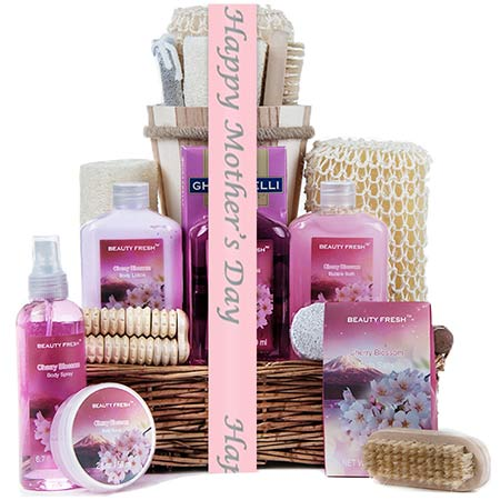 Classic gifts for mom Mothers Day spa gift basket set