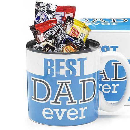 Fathers Day coffee mugs delivery and cheap fathers day coffee mug gift basket