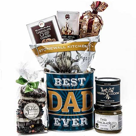 Cheap fathers day chocolate, nuts and snack gift basket next day delivery gift for dad