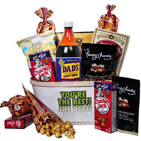 Cheap fathers day snacks gift basket for next day fathers day gift delivery