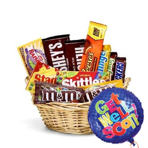 Cheap gift basket delivery and get well balloons for cheap balloon delivery