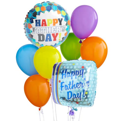 Father's Day balloon bouquet delivery and cheap fathers day balloon delivery
