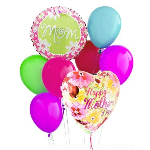 mothers day balloon delivery and cheap mothers day balloon bunch bouquet
