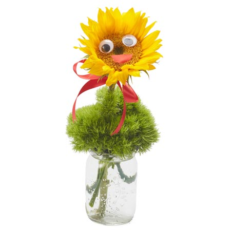 Ideas for Halloween gifts, single sunflower bouquet