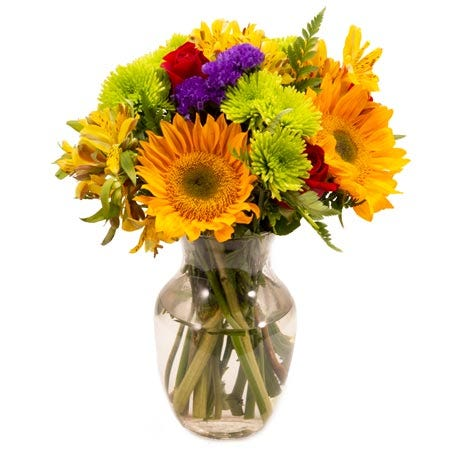 Mixed sunflower arrangement and cheap sunflower bouquet free delivery