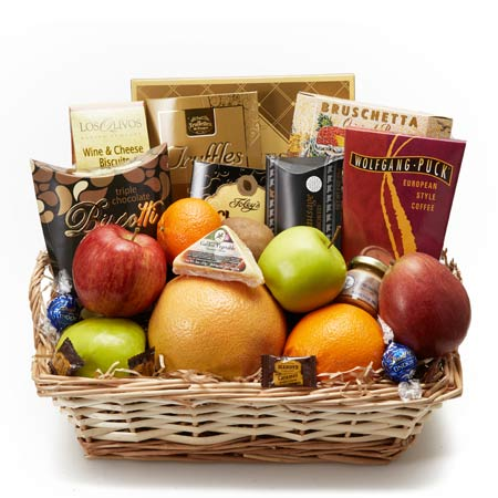 Cheap fruit and cheese gift basket at send flowers with cheese and fruits