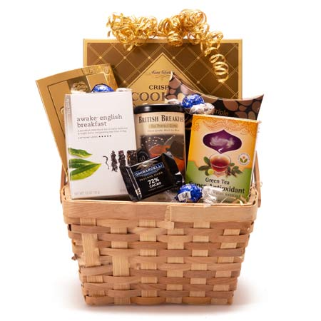 Chocolate And Tea Gift Basket At Send Flowers