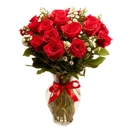 Same day delivery roses with 18 long stemmed red roses from send flowers