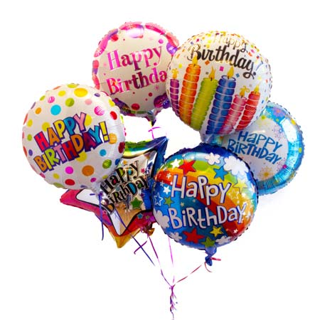 Mylar Happy Birthday Ballon Bouquet Bundle From Send Flowers