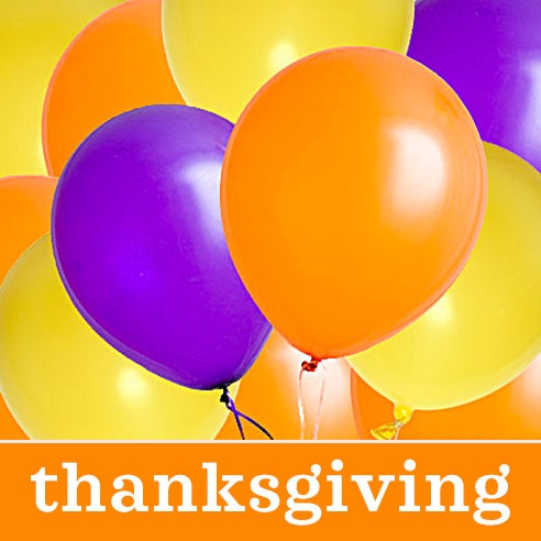cheapest thanksgiving balloon bouquet delivery, balloons Thanksgiving Day
