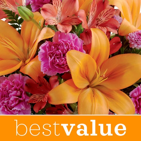 Best value happy birthday flower bouquet with flower vase and beautiful flowers