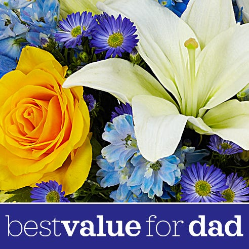 Cheapest flower delivery for dad online, delivered flowers for dad
