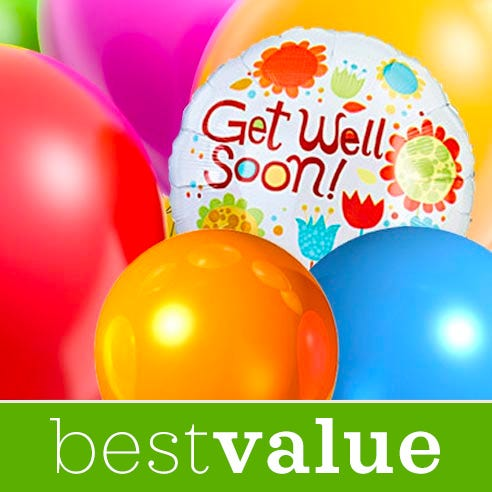 Get well balloon delivery with get well balloon bouquet, send balloons today