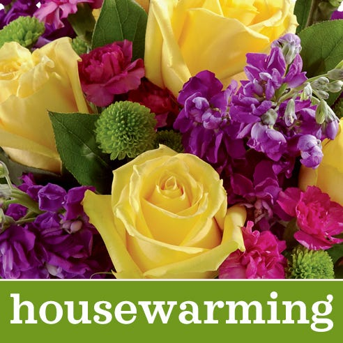 Best value housewarming flowers bouquet designed and arranged by a florist