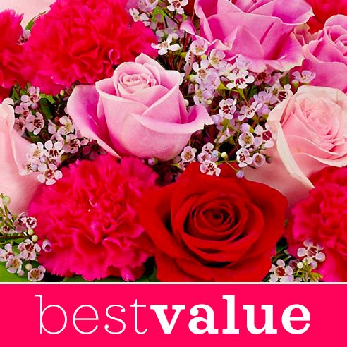Best value flower delivery and valentine day special pink flowers delivery