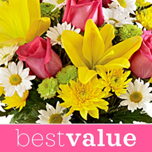 Best value flowers and best value flower delivery of cheap flowers and spring flowers