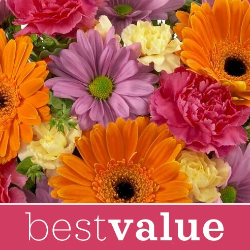Best Value thank you flower delivery and floral bouquet created by a florist