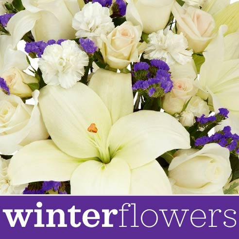 Winter-Themed Fresh Flowers - Florist Designed